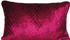 Crocodile Skin Cushion Cover Osborne & Little Fabric Velvet Fuchsia Pink