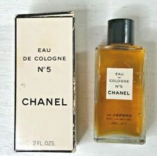 VINTAGE CHANEL NO.5 EAU DE COLOGNE 1970'S - 2 FL OZ'S NEW OLD STOCK