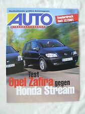 Opel Zafira 2.2 Comfort - Vergleichstest - Sonderdruck Auto Heft 12/2001