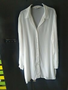 Ladies white long shirt tunic size 16 new Bhs branded