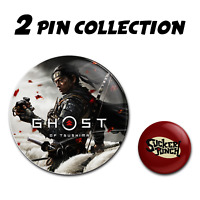 GHOST OF TSUSHIMA Sucker Punch Collector's Pins Buttons Badge Playstation 4 PS4