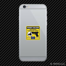 Wisconsin Concealed Carry Permit Holder Cell Phone Sticker Mobile 2a permited