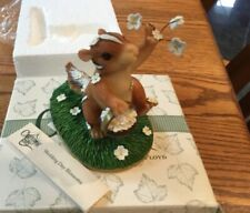 "Fitz and Floyd Charming Tails ""Wedding Day Blossoms"" Nib"