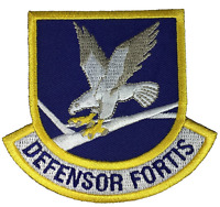 USAF AIR FORCE DEFENSOR FORTIS SHIELD PATCH SECURITY FORCE MILITARY POLICE MP