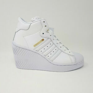 Adidas Superstar Ellure Women's Shoe Sneaker FW3198 Casual Wedge Heel Size 6 US