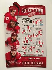 NHL 2018-2019 DETROIT RED WINGS MAGNETIC SCHEDULE-LARKIN, BERTUZZI, FREE POCKET