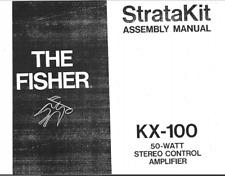 1960s Fisher KX-100 STRATAKIT Stereo Tube Audio Amplifier Digital Manual