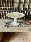 HB & Co. Choisy- Le-Roy French Transferware Cake Stand c.1900 - Birds & Flowers