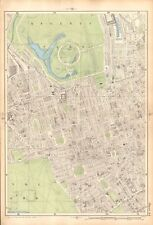 1906 LARGE MAP-BACON 9 INCH - REGENT'S PARK, MAYFAIR