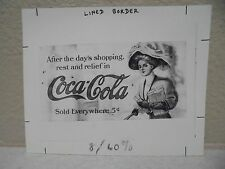 Vintage COCA-COLA PHOTO from COLA CALL Newsletter of Lady in Ad