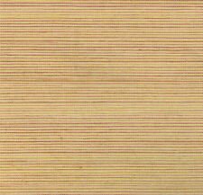 York Sisal Grasscloth Wallpaper in Peach, Gold, Powdered Burgandy  SN7476
