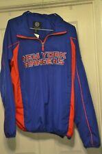 New York Rangers Quarter Zip Team Logo Pullover Jacket NHL XL