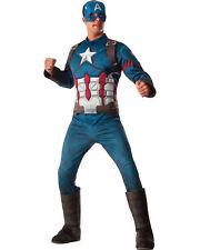 Morris Costume Men's Long Sleeve Captain America Adult Complete Outfit. RU810967