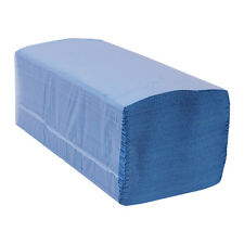 Interfold Blue Paper Hand Towels -  V Fold - 1ply - 10,000 towels (2 x 427)