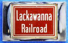 LACKAWANNA RAILROAD Emblem 0.76 oz .925 Silver Bar Franklin Mint + Paper