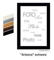 """# MDF - Bilderrahmen  """"ARIZONA""""  Schwarz - Dekor  / viele Grössen, mit Echtglas"""