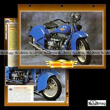 #102.06 Fiche Moto HENDERSON KJ 1300 STREAMLINE 1929-1931 Motorcycle Card