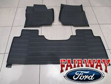 17 Super Duty OEM Ford Tray Style Molded Black Floor Mat Set 3-pc EXTENDED/CREW
