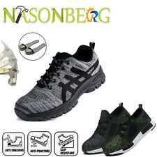 Men Lightweight Safety Work Shoes Steel Toe Cap Boots Protective Hiking Sneakers