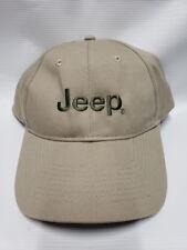 Jeep Baseball Cap HAT Khaki Adjustable NEW