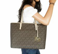 Michael Kors Jet Set Travel Top Zip Signature Monogram Tote Handbag for Women
