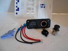 Car Cigarette Lighter Socket Splitter 12V Charger Adapter Voltmeter NEW in pkg.