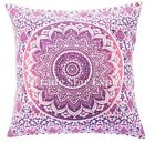 Indian Mandala Cushion Cover 16x16 Decorative Throw Pillow Cases Square Cushions