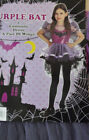 Girl's Halloween Purple Bat 2 Pc Costume Outfit Sizes S(4-6), M(8-10), L(10-12)