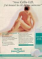 PUBLICITÉ DE PRESSE 1996 MÉTHODE JEANNE PIAUBERT CELLU-LIFT MINCEUR - SEINS NUS