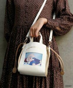 DISNEY Snow White Sleeping Beauty Aurora  Shoulder Bag Tote Purse Japan Z7999