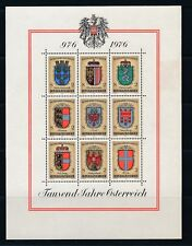 "Austria SHEETLETS #840 ""DON GIOVANNI"" & #1042 ""COAT OF ARMS"" (1969 & 76); MNH"