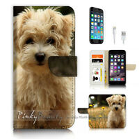 ( For iPhone 7 ) Wallet Case Cover P3317 Cute Puppy Dog