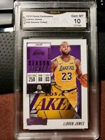 2018-19 Panini Contenders LeBron James Season Ticket #30 GMA 10 GEM MINT LAKERS