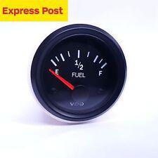 FUEL LEVEL gauge 52mm 12v suits most fuel cells with GM sender 0-90 VDO Vis.