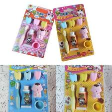 New listing Creative Toothpaste Toothbrush Shape Rubber Eraser Sets School Office Toys Gifts