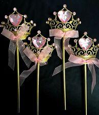 4 Disney Princess Tiara Wand Birthday Party Favor Acessories Belle Cinderella