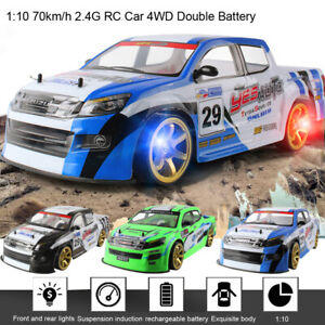 Racing Truck 1:10 70km/h 2.4G RC Car 4WD Double Battery High Power LED Headlight