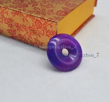 Natural 30mm Purple Sugilite Circle Donut Pendant Jewelry Anniversary Gift Lucky