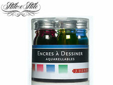 Inchiostro J Herbin Acquarellato | Set 5 colori per disegno | Draw Inks