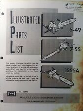 Mcculloch Chain Saw 5 49 7 55 1225a Master Parts Manual 2 Cycl Gasoline Chainsaw