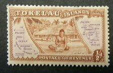 TOKELAU ISLANDS 1948 SG1 ?d. ATAFU VILLAGE AND MAP -  MNH