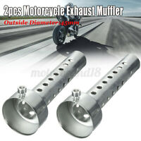 2x Moto Silenziatore Db Killer Diametro 45MM Lungo Scarico Smontabil