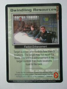 1999 BABYLON 5 CCG - SEVERED DREAMS - RARE CARD - DWINDLING RESOURCES