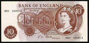 * B311 / p373c* Bank of England * 10/- * Fforde * Prefix M80 * REPLACEMENT * GVF