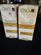 2 Pack Cnd Solar Oil Nail and Cuticle Care 15mL 0.5 fl Oz. Solaroil