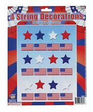 Hanging USA American Stars & Stripes String Flag Banner Bunting Party Decoration