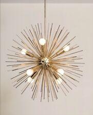 Jahrhundertmitte inspiriert handgefertigt Messing Starburst Kronleuchter Sputnik