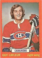1973-74 Topps Hockey Guy Lafleur Montreal Canadiens Card #72