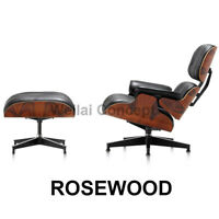 Eame Lounge Chair And Ottoman Footstool Real Leather Rosewood Second Hand