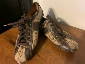 """COACH Women's Canvas & Leather """"Suee"""" CASUAL SHOES - Size 6 - Browns - ExPrOwn"""